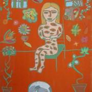 Pilar Estabanell, la habitación naranja